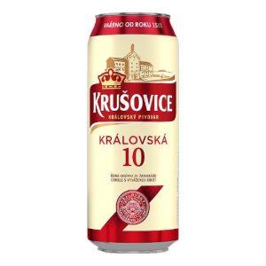 Krušovice Královská 10 svetlé výčapné pivo 500ml donášková služba Zlaté Moravce
