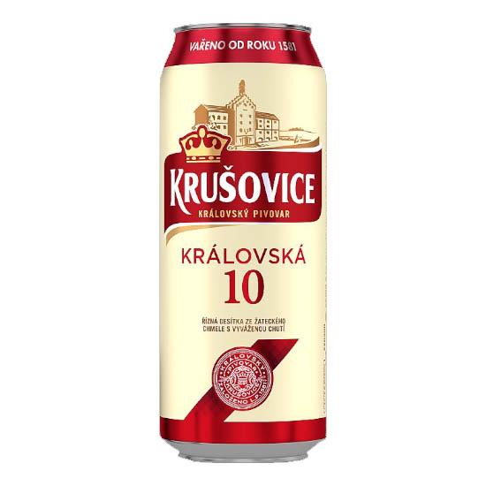 Krušovice Královská 10 svetlé výčapné pivo 500ml