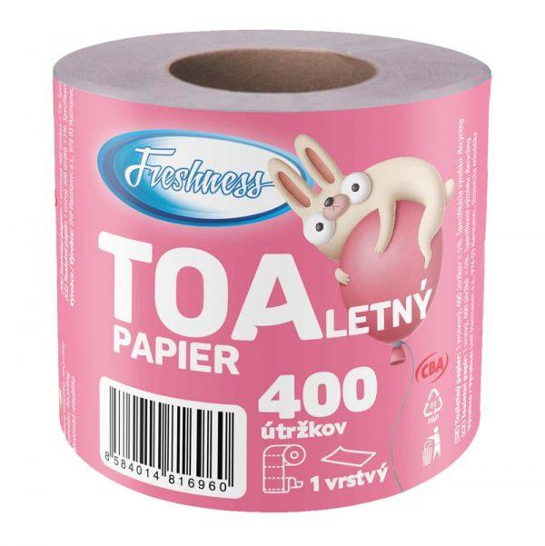 Toaletný papier jednovrstvový CBA Freshness 400 útržkov donášková služba Zlaté Moravce