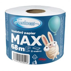 Toaletný papier Max dvojvrstvový CBA Freshness 68m donášková služba Zlaté Moravce