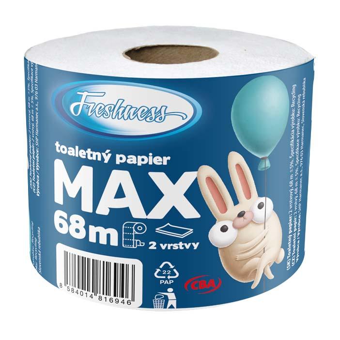 Toaletný papier Max dvojvrstvový CBA Freshness 68m