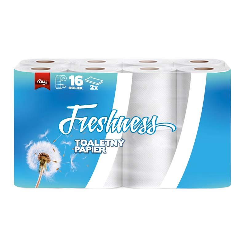 Toaletný papier dvojvrstvový CBA Freshness 16ks
