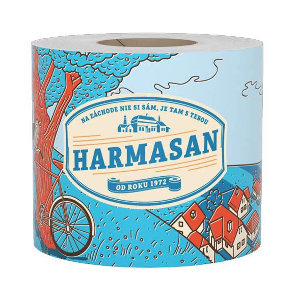 Toaletný papier jednovrstvový Harmasan 400 útržkov 50m donášková služba Zlaté Moravce
