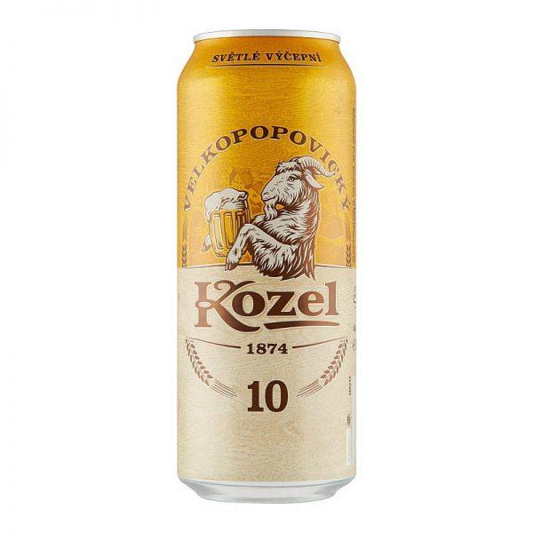 Velkopopovický kozel 10% svetlé výčapné pivo 500ml donášková služba Zlaté Moravce