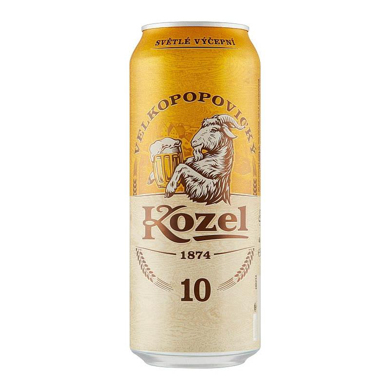 Velkopopovický kozel 10% svetlé výčapné pivo 500ml