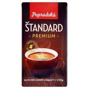 Popradská mletá káva Štandard Premium 250g Donášková služba Zlaté Moravce